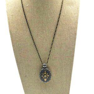Brighton locket necklace.  Silver plated reversibl